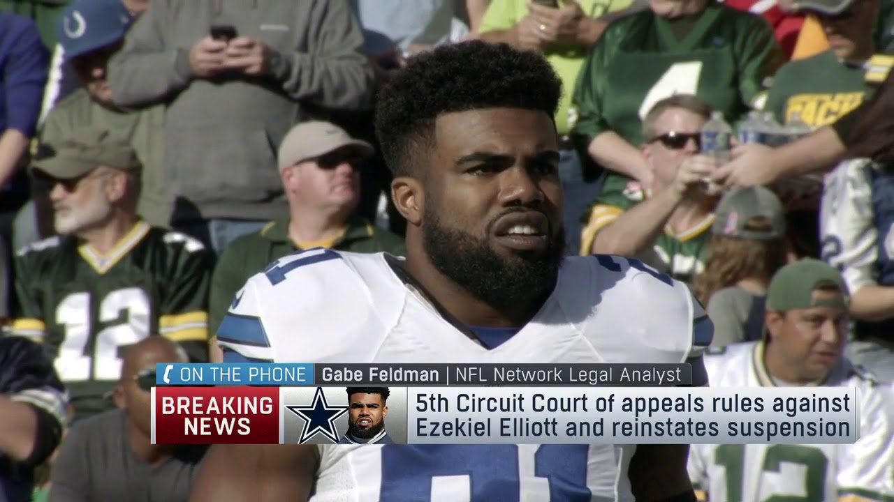 NFL reinstates Ezekiel Elliott's suspension after appellate court rules ...