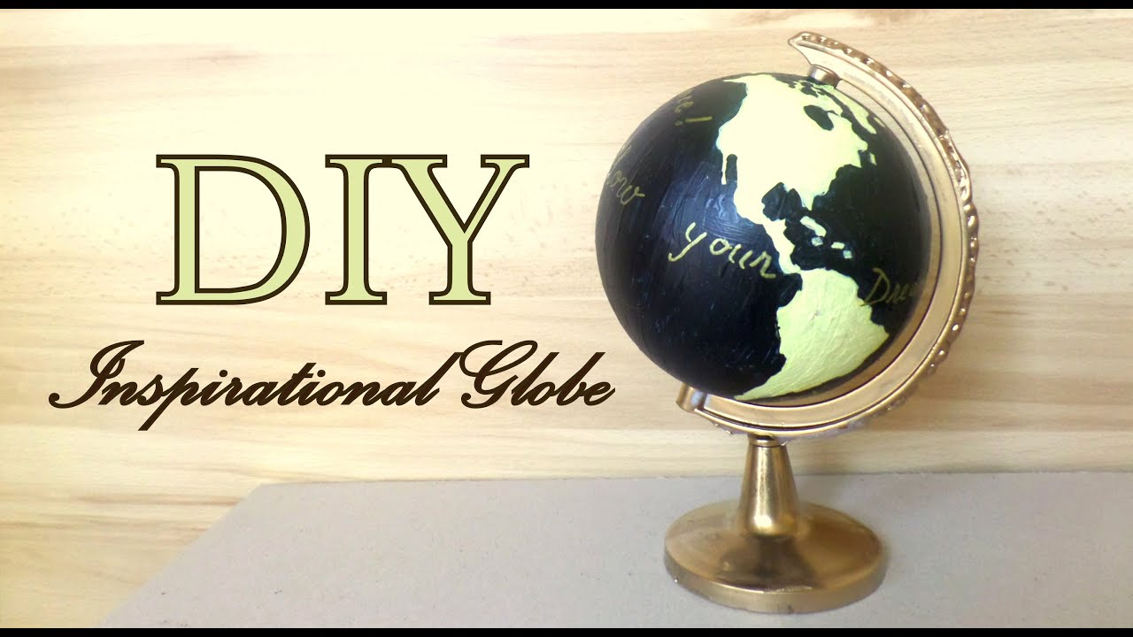 DIY Inpirational Globe Guest Book Wedding Idea  by
