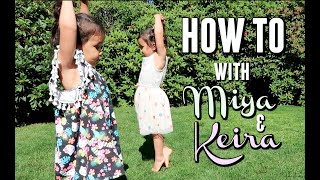 TWINS TEACH HOW TO CARTWHEEL AND BALLET! -  ItsJudysLife Vlogs