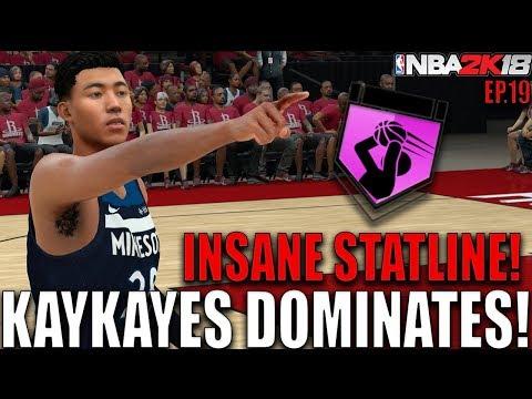 KAYKAYES CATCHES FIRE VS JAMES HARDEN! STAT UPGRADE! NBA 2K18 MyCareer Ep.19