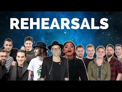 Eurovision 2018 Rehearsals - Georgia, Poland, Malta & Hungary (Press Center)