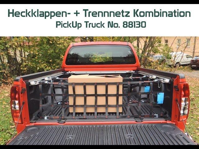 Montage Trennnetz + Heckklappennetz Kombination PickUp Truck Dr. THIEL® Cargo Net 88130