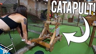 I CAN'T BELIEVE THIS MINI GOLF COURSE LETS YOU DO THIS!
