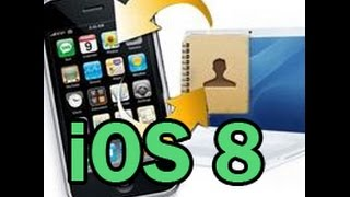 Contacts lost after update to iOS 8? How to Restore Contacts from iPhone 5S/5C/5/4S on iOS 8