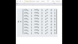 NxN Matrix - Microsoft Word Trick [EASY]