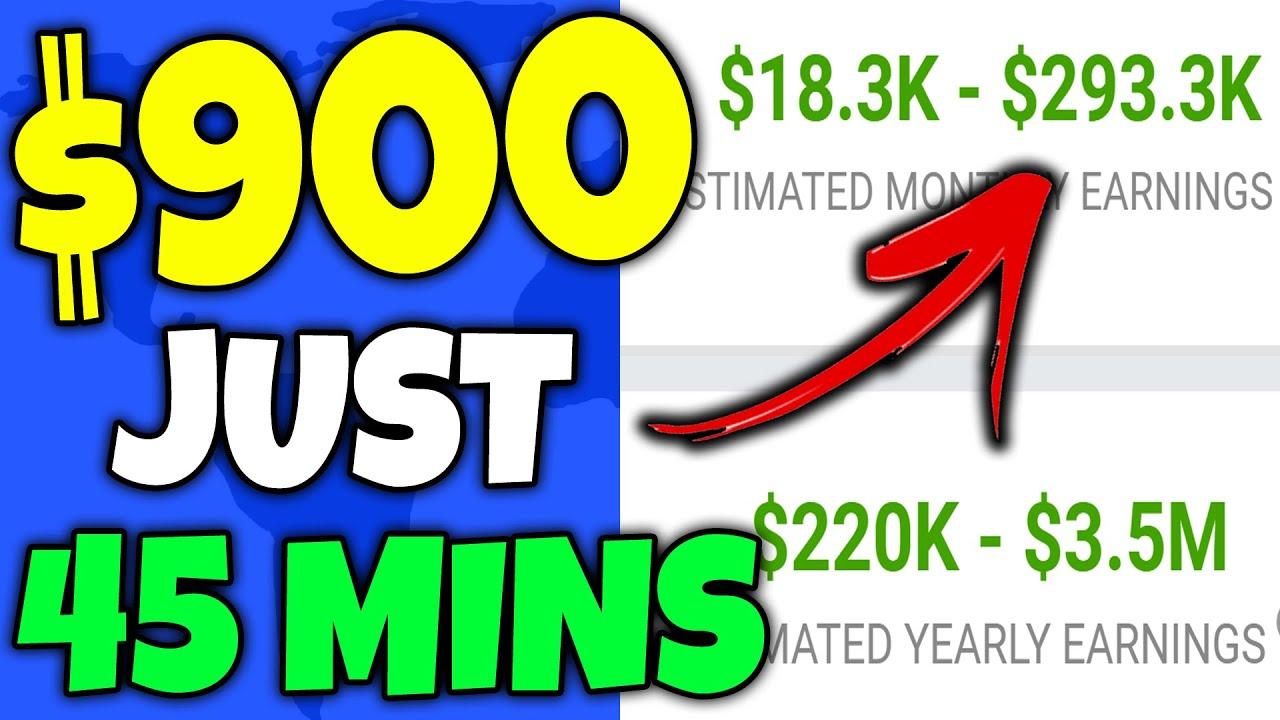 How To Make $900+ In 45 Mins As A Broke Beginner (Make Money Online)
