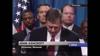 John Ashcroft & Robert Mueller Announcement Regarding The 9/11 Attacks (10-4-2001)