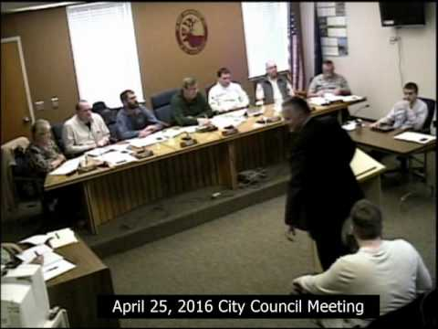 April 25, 2016 City Council Meeting