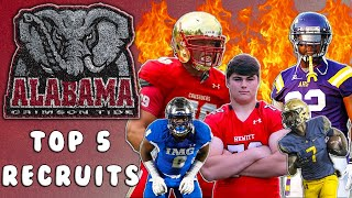How Did ALABAMA DO THIS...AGAIN!!! Alabama's Top 5 Recruits 2019 | Sharpe Sports