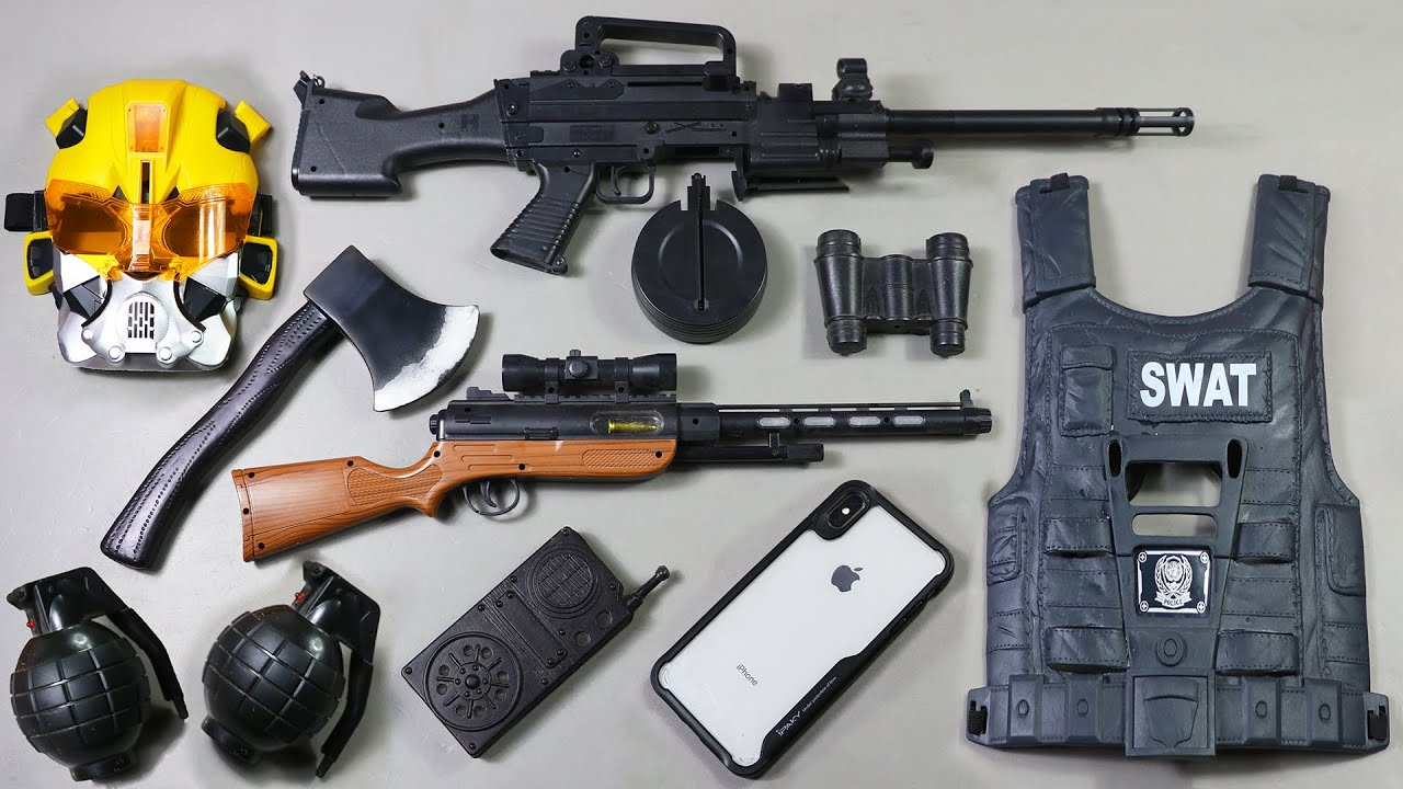 New M-249 machine gun | Talking Mask And SWAT Vest With Apple iPhone XS Max