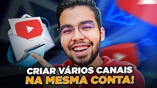 Veja como criar outro canal no YouTube com a MESMA CONTA em 3 MINUTOS! (Atualizado)