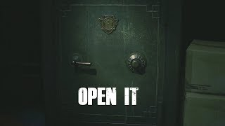 1 Shot Demo U.S.-  Resident Evil 2 Remake - ouverture coffre-fort et cadenas