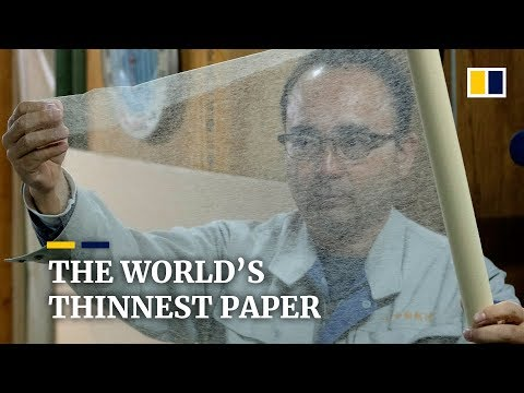 World's thinnest paper, Japanese washi is finding a new use in museum preservation
