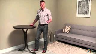Innobella Destiny 32 In. Round Wood Pub Folding Table - Chocolotto - Product Review Video