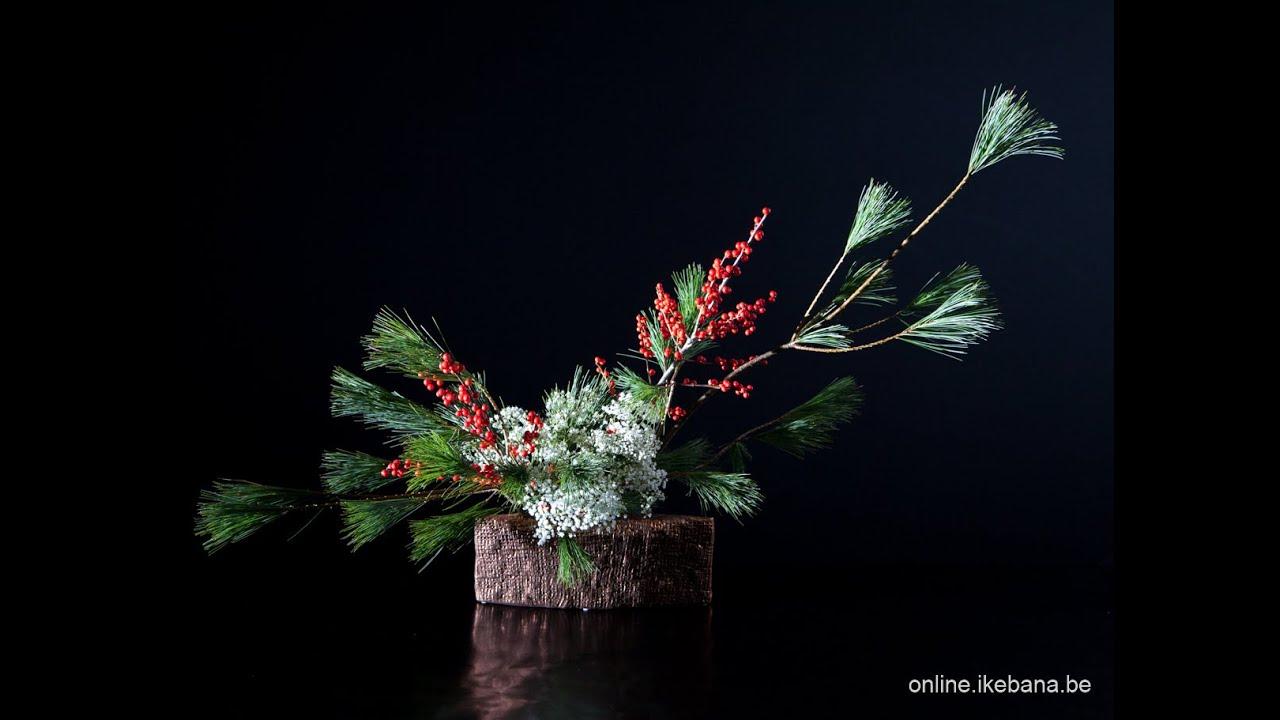 How To Make An Easy Ikebana Christmas Arrangement Part 1 3 Youtube