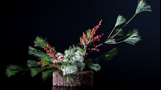 This is the first part of a DIY video to make an Ikebana Christmas ...
