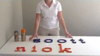 Hand Painted Wooden Wall Letters With Custom Color Choice For Nursery & Kids Room Decor