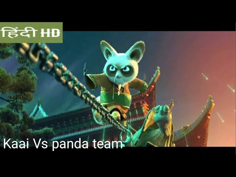 Kung Fu Panda 3 :kaai Vs Panda team fight scene in Hindi movie clips