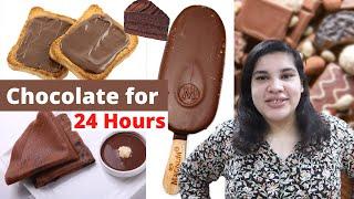 24 hour Chocolate Challenge 🍫🍫 || As always BT Hogayi 🤐🤐  // 24 hour challenge