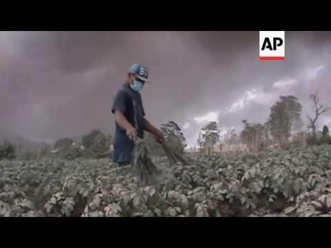 Volcano erupts in western Indonesia