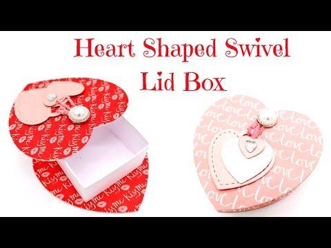 Swivel Lid Heart Shaped Box | Valentine's Series 2018