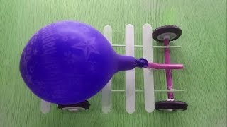 Balloon car science fair projects for kids, science projects and science experiments