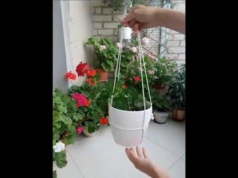 How To Hang A Flower Pot With A Rope Comment Accrocher Un Pot De