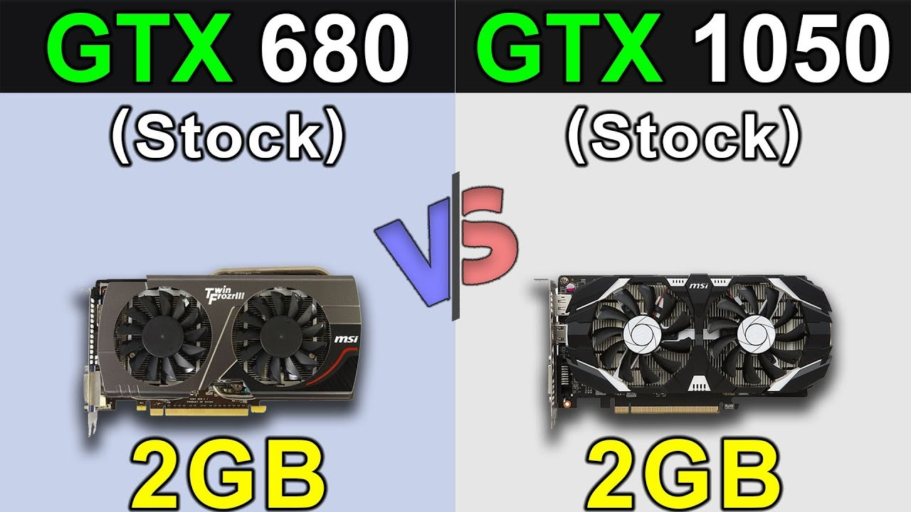 GTX 680 Vs  GTX 1050 | New Games Benchmarks