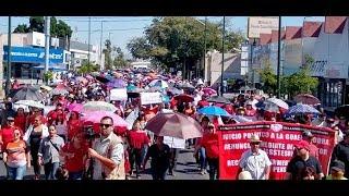 Marcha de los Indignados contra el desastre del ISSSTESON