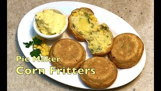 Corn Fritter in the Pie Maker cheekyricho cooking ep. 1,219