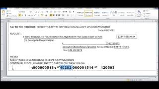 4 30 2012   Our Style Money Orders, and CLOSE CHECKING ACCOUNT UPDATE avi
