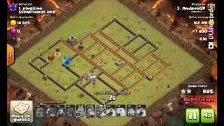 Ataques ayuntamiento 12 en Clash of clans