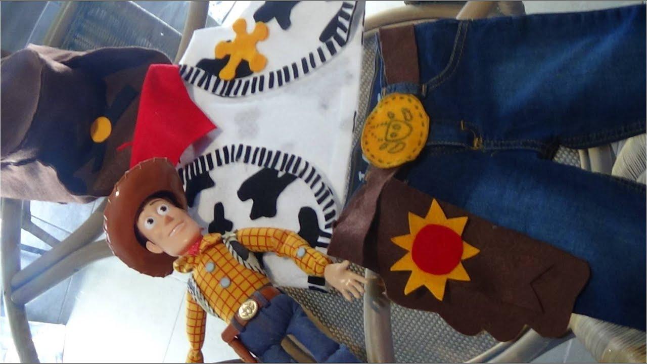 Parte 2 del Disfraz del Sheriff Woody Toy Story - YouTube 4ef9abe6def