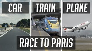 RACE TO PARIS | Time / Emissions / Cost / Baggage compared!