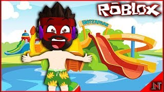 ROBLOX Indonesia #173 Escape Waterpark Obby | Lebaran holiday in Waterpark Obby SERU