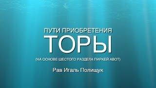 Пути приобретения Торы. Урок № 30. Единство еврейского народа.