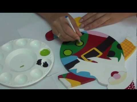 Arte y pintura country navidad youtube - Pintura para madera ...