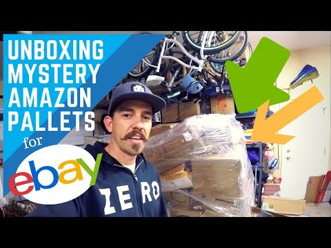 Unboxing Amazon Returns Mystery Pallet for Resale on Ebay! (