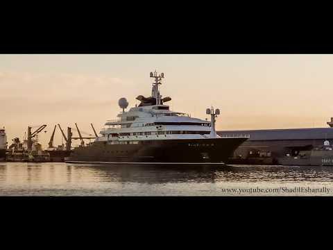 OCTOPUS ! PAUL ALLEN'S US $ 200 MILLION MEGA YACHT IN MAURITIUS !