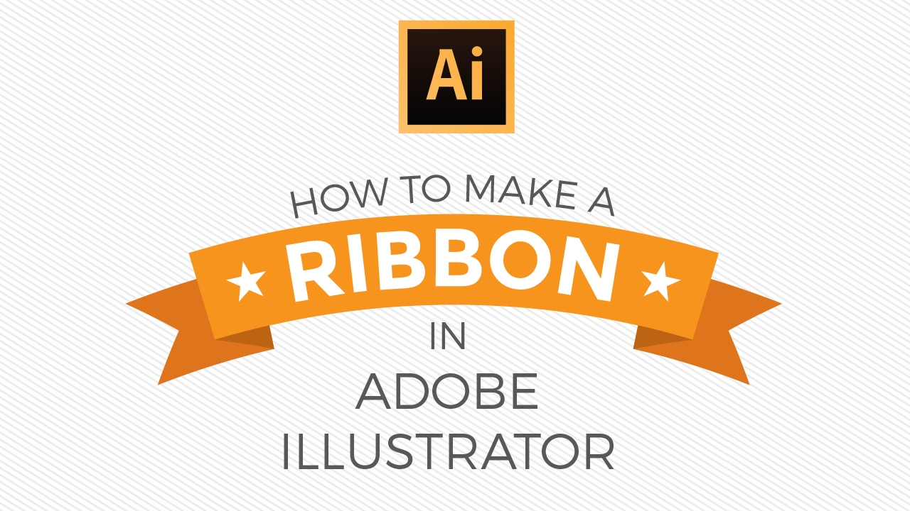 graphic design tutorial how to make a ribbon in illustrator