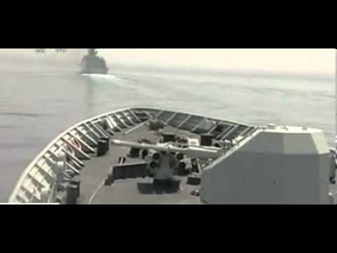 CHINA AND RUSSIA WARSHIPS AND WARPLANESSEA PARADE 2012
