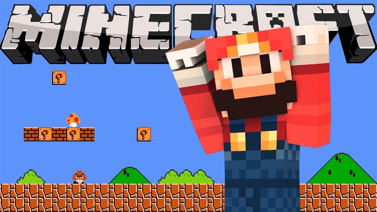 Марио в майнкрафте играть