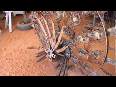 How To Build A Scrap Metal Peacock Sculpture Youtube