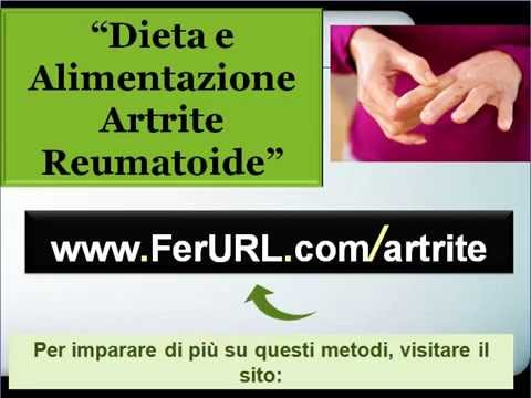 alimentazione per artrite