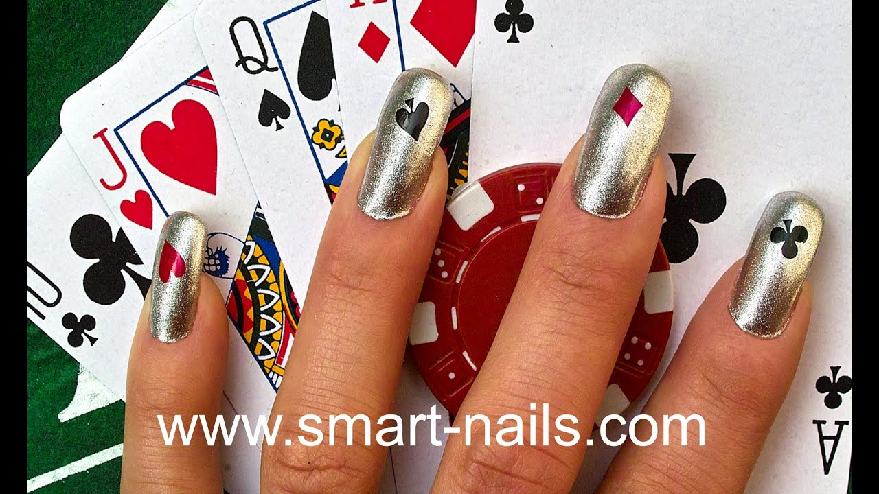 How to apply The Cards nail art design from smART nails - YouTube
