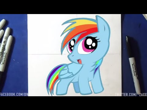 Comment dessiner my little pony youtube - Apprendre a dessiner my little pony ...