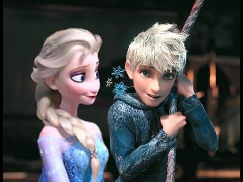 frozen elsa and jack frost meet