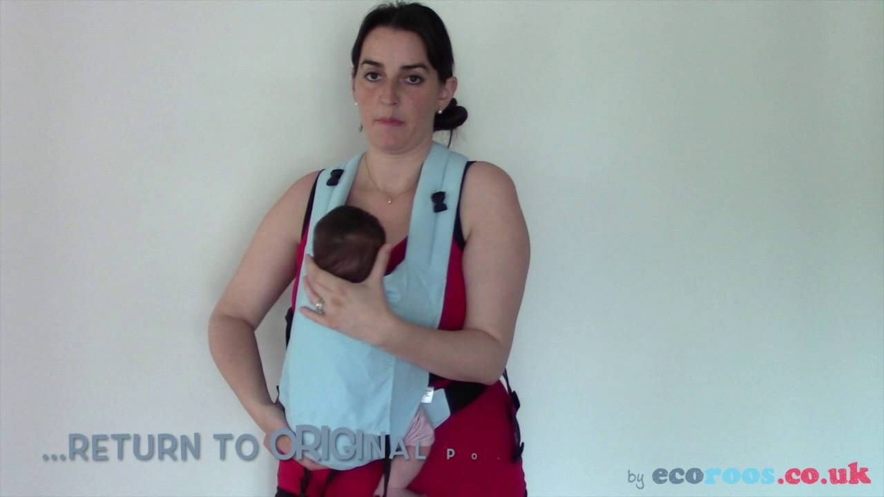 b054e5f4ead Breastfeeding in Sling  Connecta baby carrier with newborn - YouTube
