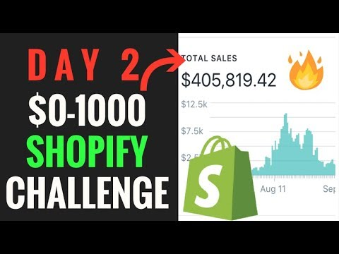 DAY 2 | SHOPIFY CHALLENGE: LIVE PRODUCT RESEARCH & FINDING INFLUENCERS thumbnail