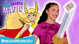 She-Ra Sword Trick | JUNK DRAWER MAGIC Presented By She-Ra and the Princesses of Power